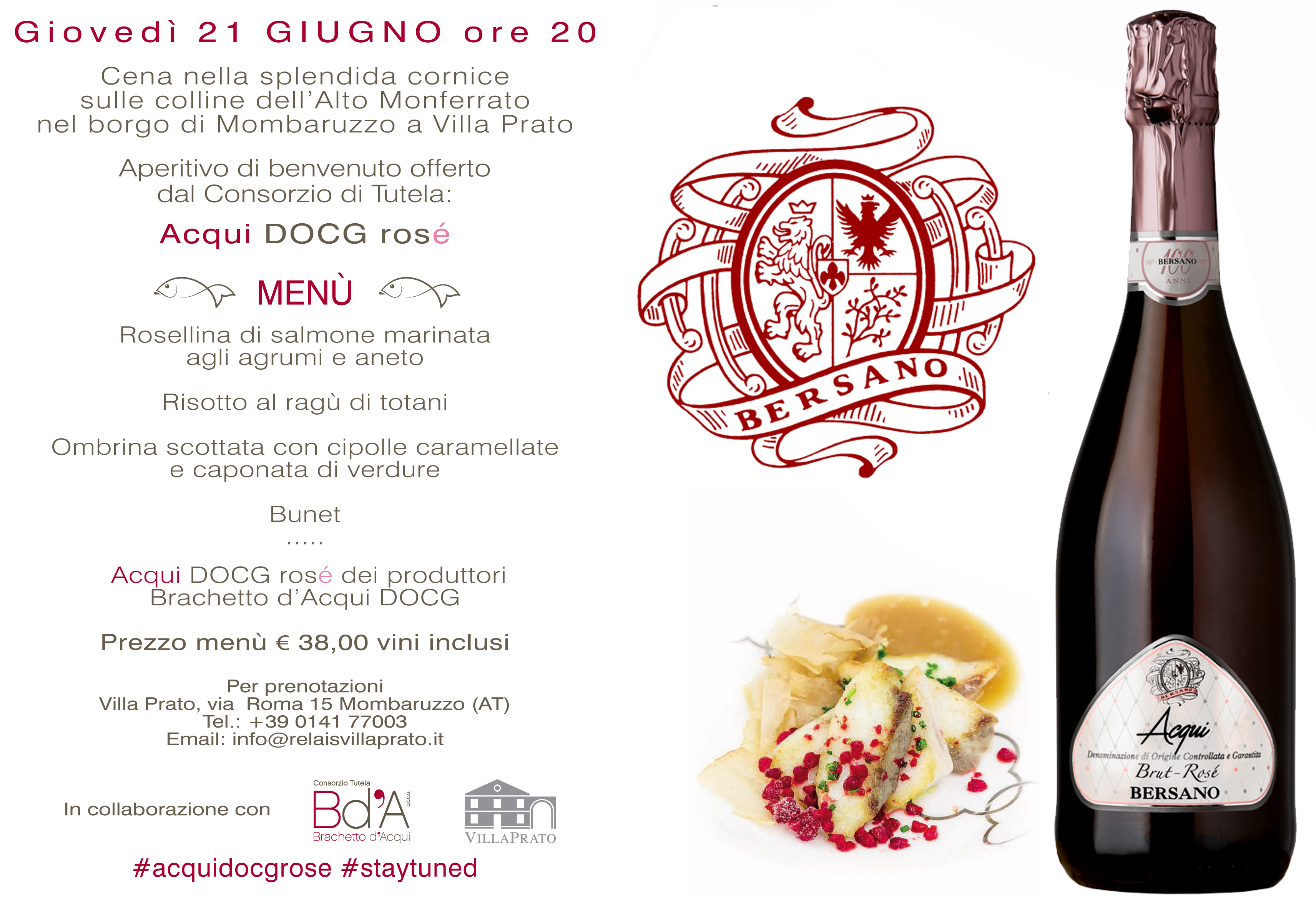 Aperitivo in collina con Acqui DOCG Rose' #acquidocgrose