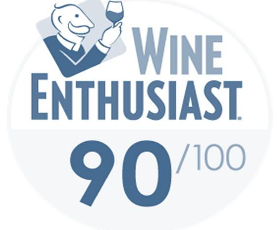 Wine Enthusiast – 90/100 Barbaresco Mantico 2015